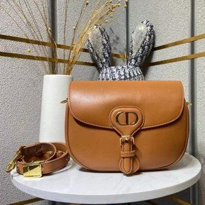 NWT Dior Bobby Rounded Flap Bag in Camel Leather